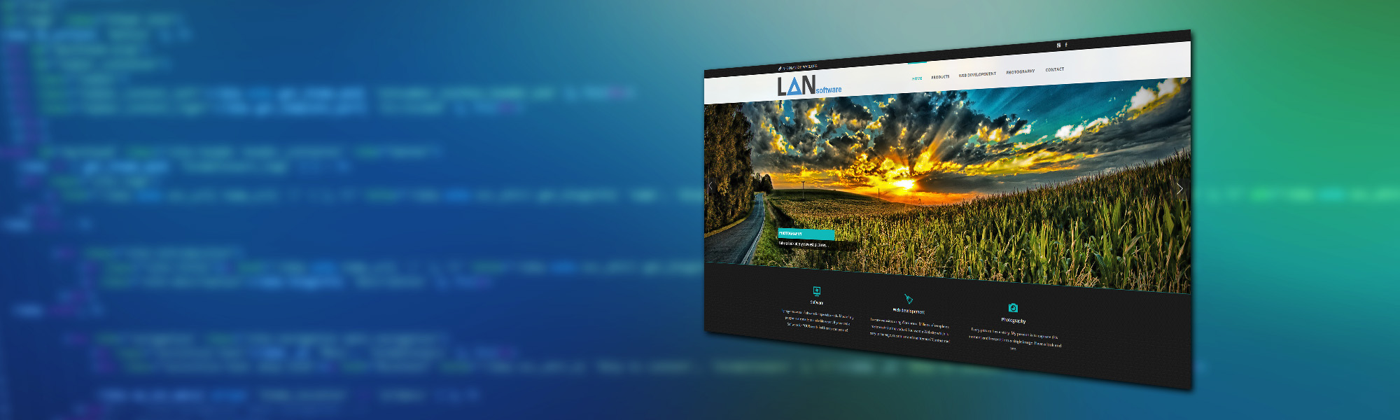 Web developement header image